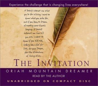 Invitation Audio book by Oriah Mountain Dreamer Audiobooksnet