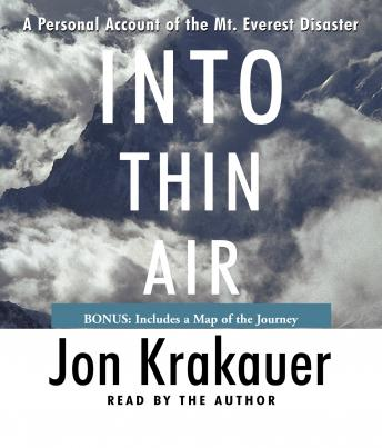 Download Into Thin Air: A Personal Account of the Mt. Everest Disaster by Jon Krakauer
