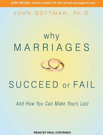 [Download Free] Why Marriages Succeed or Fail: And How You Can Make Yours Last Audiobook