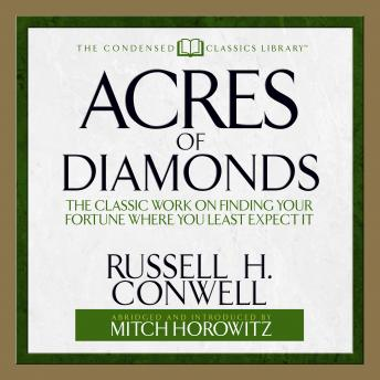 a summary of from acres of diamonds an essay by russell h conwell Online textbook essay publisher wiki  summary book of download    h conwell_acres-of-diamonds.