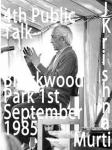 J Krishnamurti Broockwood Talk Four 1st September 1985
