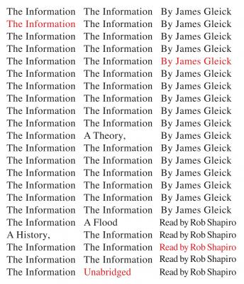 Information: A History, a Theory, a Flood, James Gleick