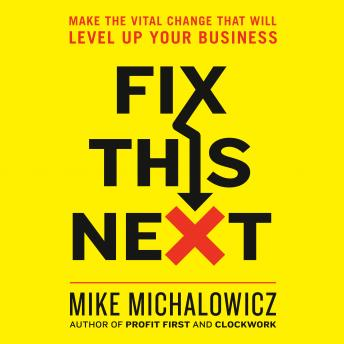 Fix This Next: Make the Vital Change That Will Level Up Your Business, Mike Michalowicz