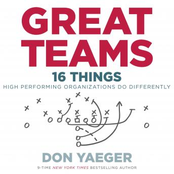 Great Teams: 16 Things High Performing Organizations Do Differently, Don Yaeger