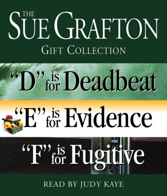Sue Grafton DEF Gift Collection: 'D' Is for Deadbeat, 'E' Is for Evidence, 'F' Is for Fugitive
