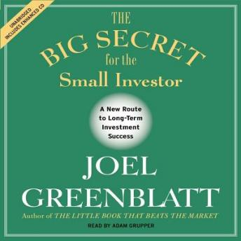 Big Secret for the Small Investor: The Shortest Route to Long-Term Investment Success, Joel Greenblatt