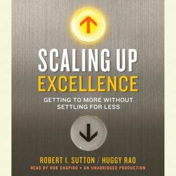 Scaling Up Excellence: Getting to More Without Settling for Less, Huggy Rao, Robert I. Sutton