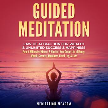 Guided Meditation - Law of Attraction for Wealth & Unlimited Success & Happiness: Form A Millionaire Mindset & Manifest Your Dream Life of Money, Wealth, Success, Abundance, Health, Joy, & Love