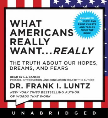 What Americans Really Want...Really: The Truth About Our Hopes, Dreams, and Fears, Dr. Frank I. Luntz