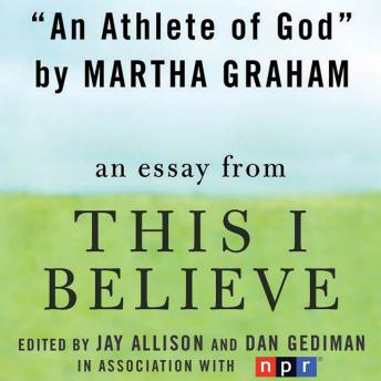 An Athlete of God: A 'This I Believe' Essay