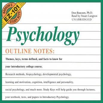 Barron's EZ101 Study Keys: Psychology