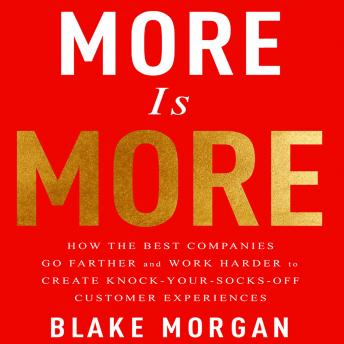 More is More: How the Best Companies Go Farther and Work Harder to Create Knock-Your-Socks-Off Customer Experiences, Blake Morgan
