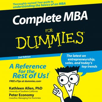 Complete MBA For Dummies: 2nd Edition