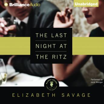 Last Night at the Ritz, Elizabeth Savage