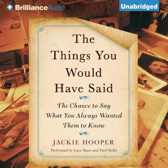 Things You Would Have Said, Jackie Hooper