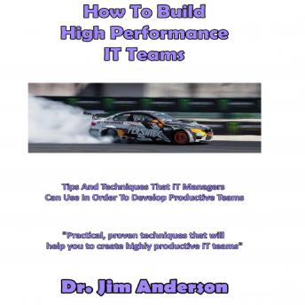How to Build High Performance IT Teams: Tips and Techniques that IT Managers Can Use in Order to Develop Productive Teams, Dr. Jim Anderson