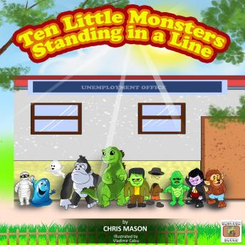 Ten Little Monsters Standing in a Line