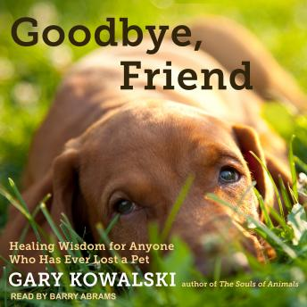 Goodbye, Friend: Healing Wisdom for Anyone Who Has Ever Lost a Pet, Gary Kowalski