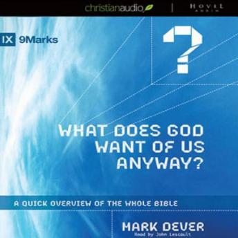 What Does God Want of Us Anyway: A Quick Overview of the Whole Bible, Mark Dever