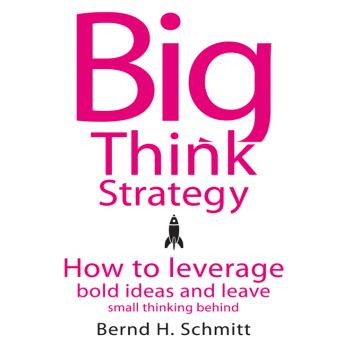 Big Think Strategy: How to Leverage Bold Ideas and Leave Small Thinking Behind, Bernd H. Schmitt