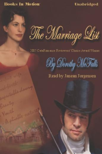 Marriage List, Dorothy McFalls