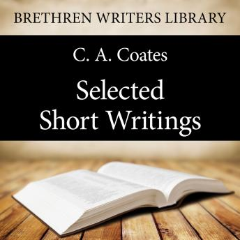 Selected Short Writings, C. A. Coates