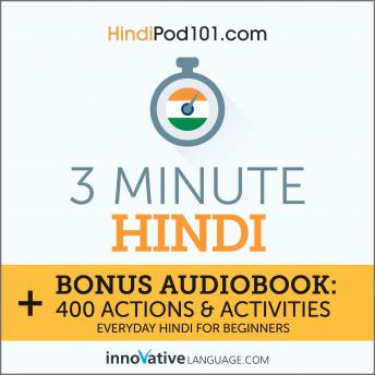 3-Minute Hindi: Everyday Hindi for Beginners