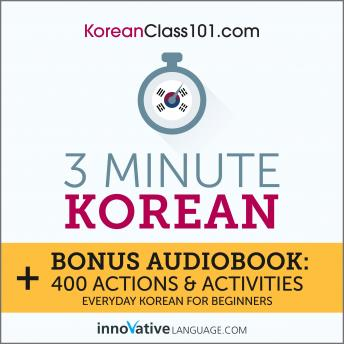 3-Minute Korean: Everyday Korean for Beginners