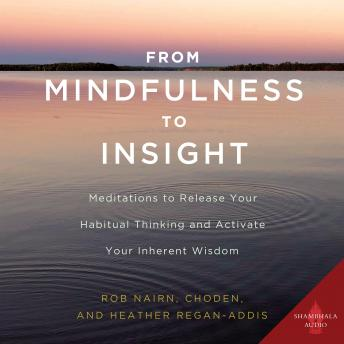 From Mindfulness to Insight: Meditations to Release Your Habitual Thinking and Activate Your Inherent Wisdom, Heather Regan-Addis, Choden , Rob Nairn
