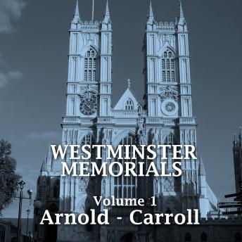 Westminster Memorials - Volume 1, Rupert Brooke, William Blake, John Bunyan