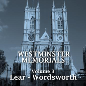 Westminster Memorials - Volume 3, Shakespeare , Henry Wadsworth Longfellow, John Milton