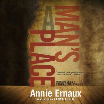 Download Man's Place by Annie Ernaux
