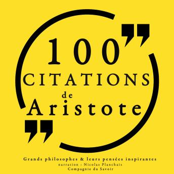 Download 100 citations d'Aristote by Aristote