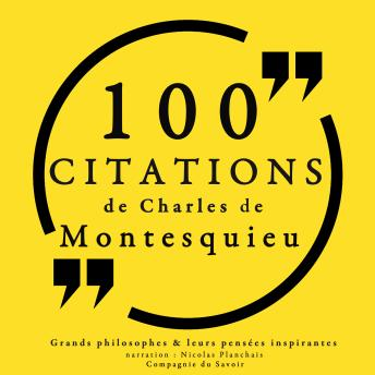 100 citations de Montesquieu