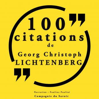 100 citations Georg Christophe Lichtenberg: Collection 100 citations