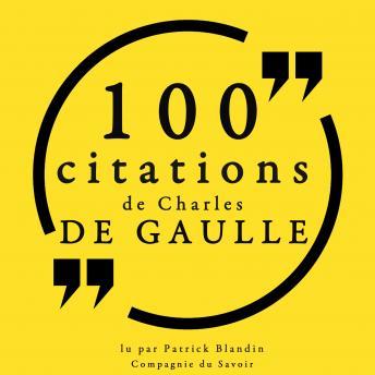100 citations Charles de Gaulle: Collection 100 citations