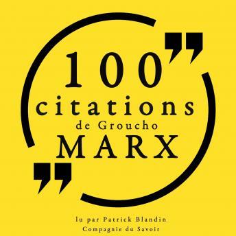 100 citations de Groucho Marx: Collection 100 citations