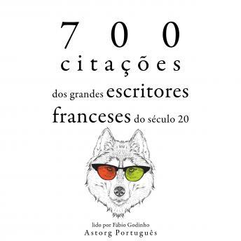 700 citações dos grandes escritores franceses do século 20: Recolha as melhores citações