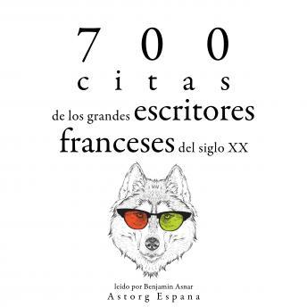 700 citas de los grandes escritores franceses del siglo XX: Colección las mejores citas