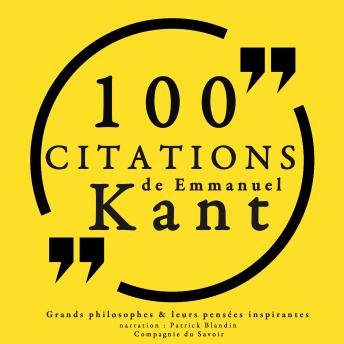 100 citations d'Emmanuel Kant, Collection 100 Citations
