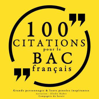 100 citations pour le bac français, Collection 100 Citations