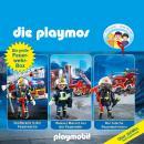 Die Playmos - Das Original Playmobil Hörspiel, Die große Feuerwehr-Box, Folgen 42, 57, 62 Audiobook