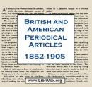 British & American Periodical Articles 1852-1905, Various Authors